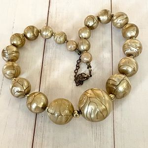 Gold Marbled Colored Necklace